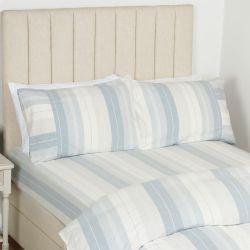 sábana bajera de rayas azules