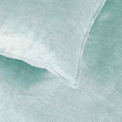funda nórdica terciopelo azul verdoso