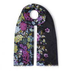 pañuelo azul con flores de diseño