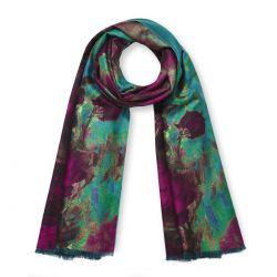 pañuelo elegante de flores reversible