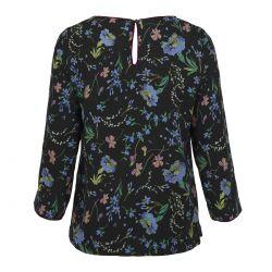 blusa estampada negra con flores