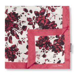 pañuelo de seda con rosas rojas