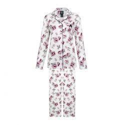 pijama dos piezas de flores rosas de diseño