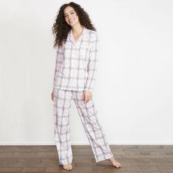 pijama de cuadros rosas
