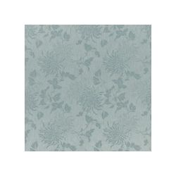 tejido de jacquard chrysanthemum azul verdoso