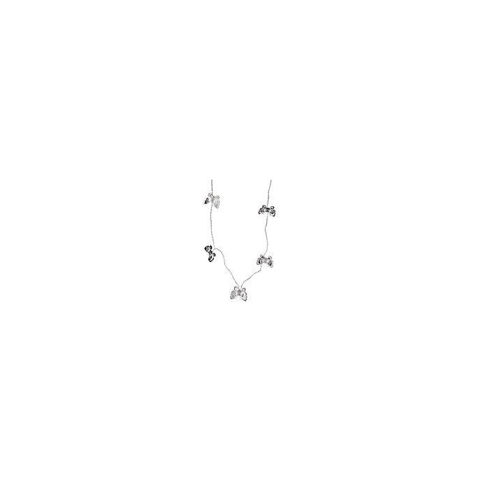 cadeneta de luz con mariposas en metal