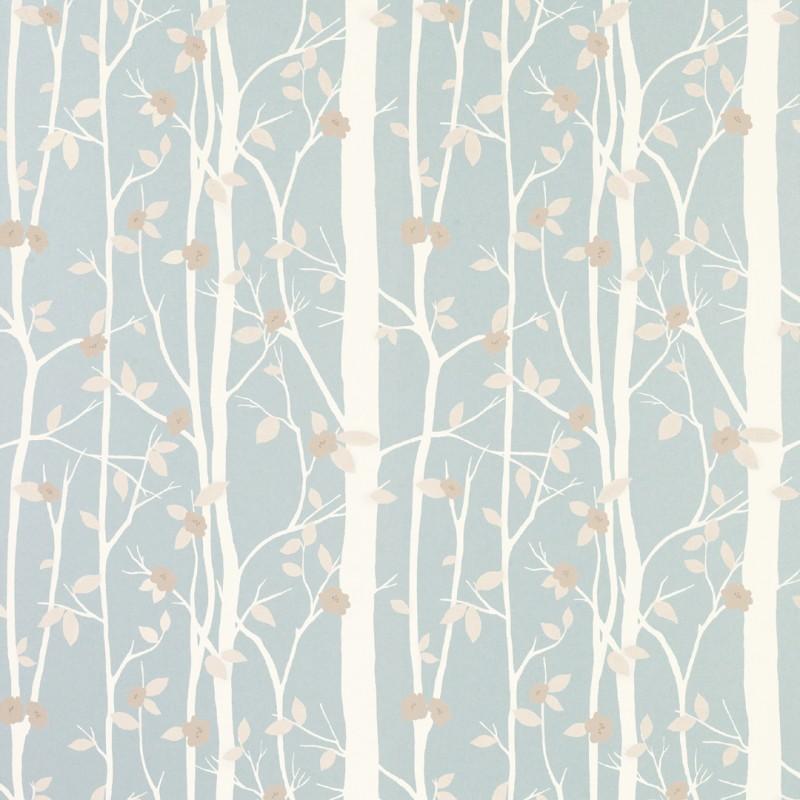 Comprar papel pintado cottonwood azul verdoso de dise o - Papel pintado laura ashley ...