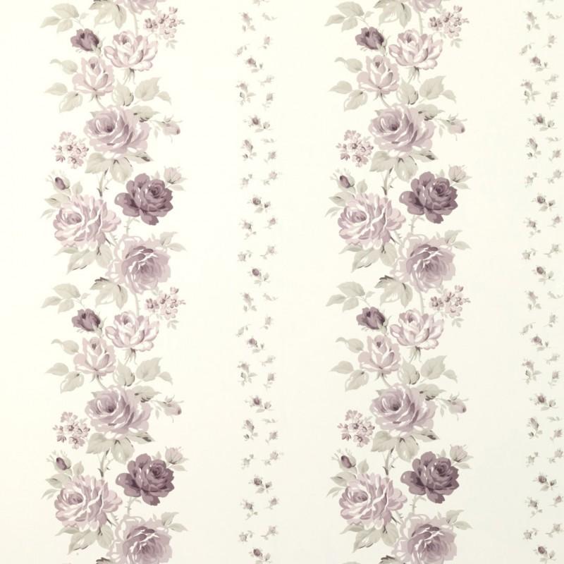 Comprar papel pintado clarissa amatista de dise o laura - Laura ashley papel pintado ...