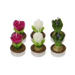set de velas decorativas floral