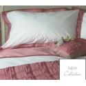 ropa de cama imogen rosa cereza y blanco