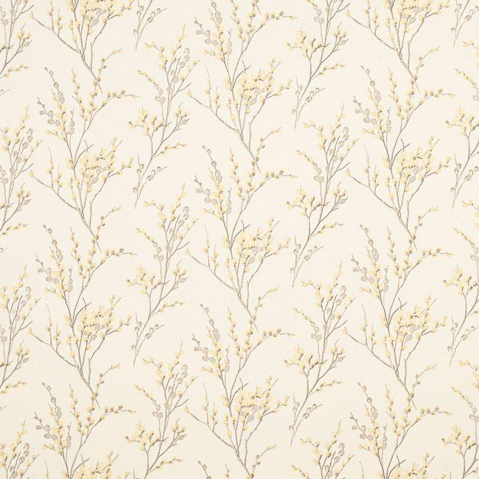tejido estampado pussy willow trufa y camomila
