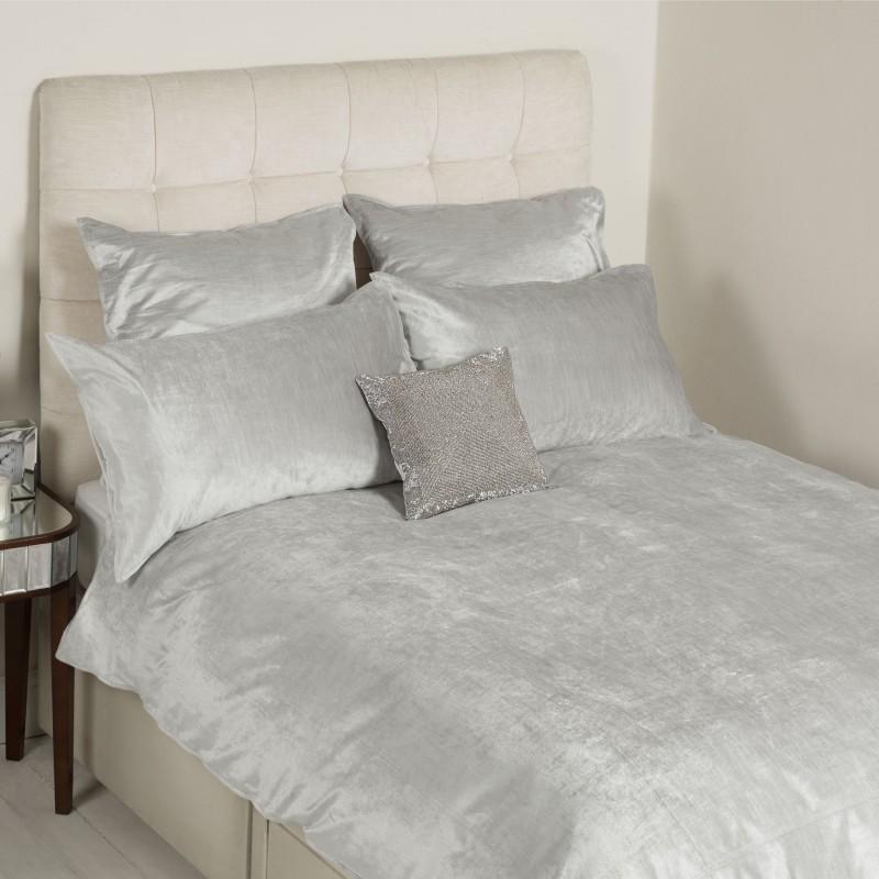 Comprar ropa de cama alana terciopelo plata de dise o - Ropa de cama zaragoza ...