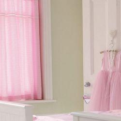 cortinas confeccionadas gingham rosa