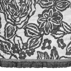 pañuelo floral doble capa