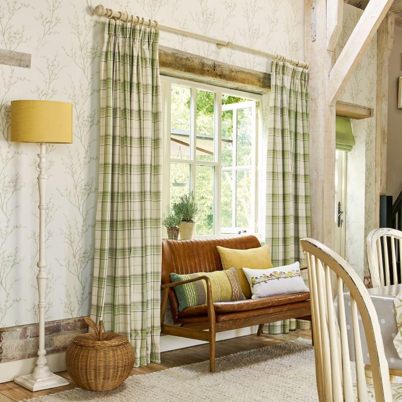 Comprar papel pintado pussy willow hueso y verde seto de for Casa decoracion willow