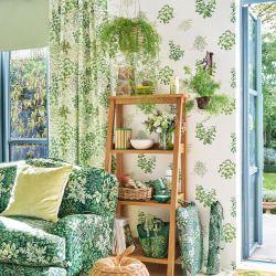 papel pintado Herbs verde seto