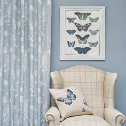tejido Dragonfly Garden azul talco