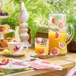 Conjunto de taza y plato Floral Heritage