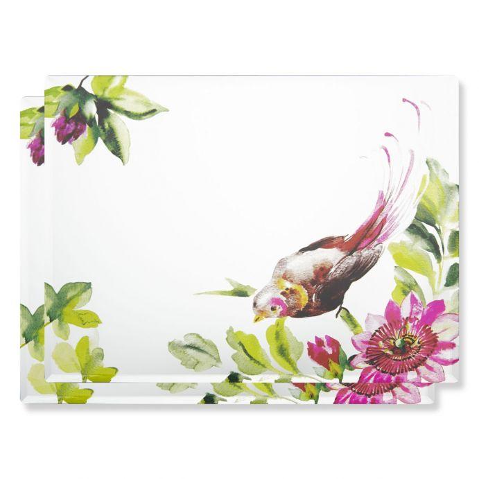 2 salvamanteles espejados Floral Heritage