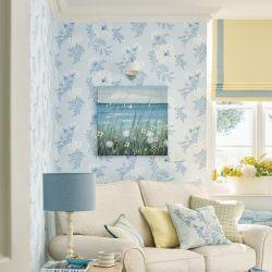 papel pintado sandford azul mar
