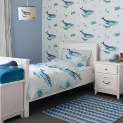 funda nórdica Whales azul