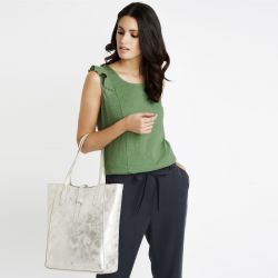 bolso shopper Wing peltre