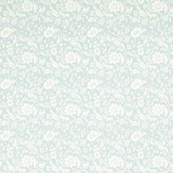 papel pintado de flores adamascado azul verdoso Lila, de Laura Ashley
