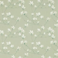 papel pintado de flores verde seto Magnolia Grove, de Laura Ashley
