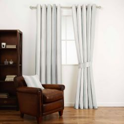 tela de rayas gris pizarra Awning, de Laura Ashley