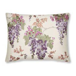 cojín de flores bordadas Wisteria morado, Laura Ashley