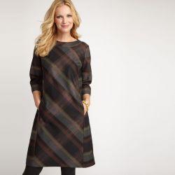 vestido de cuadros tres cuartos Laura Ashley