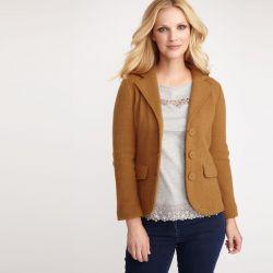 chaqueta blazar de lana camel, Laura Ashley