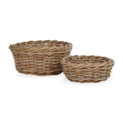 2 cestas redondas de fibra, Laura Ashley