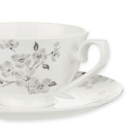 taza y plato de flores Iona gris, Laura Ashley