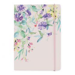 libreta rosa de flores con cierre, Laura Ashley