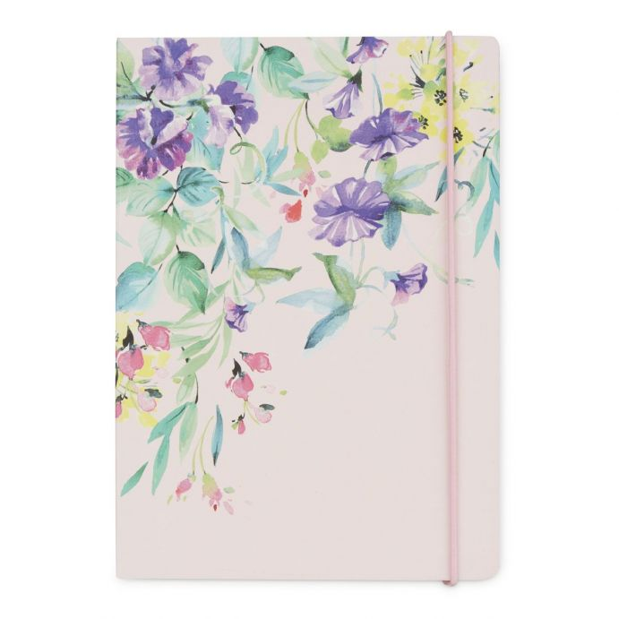 libreta rosa de flores con cierre, Laura Ashley