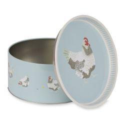 caja de lata Chickens
