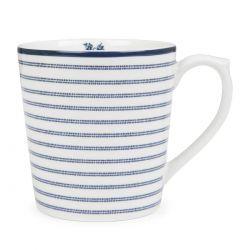 taza de rayas azules