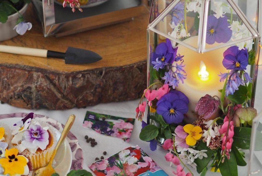 DIY - Farol floral decorativo