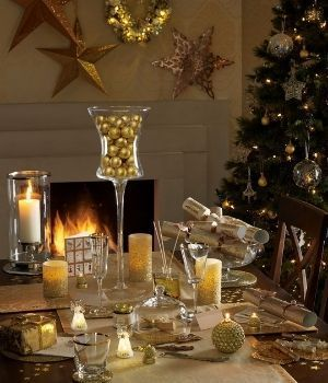 Decorar la mesa en Navidad