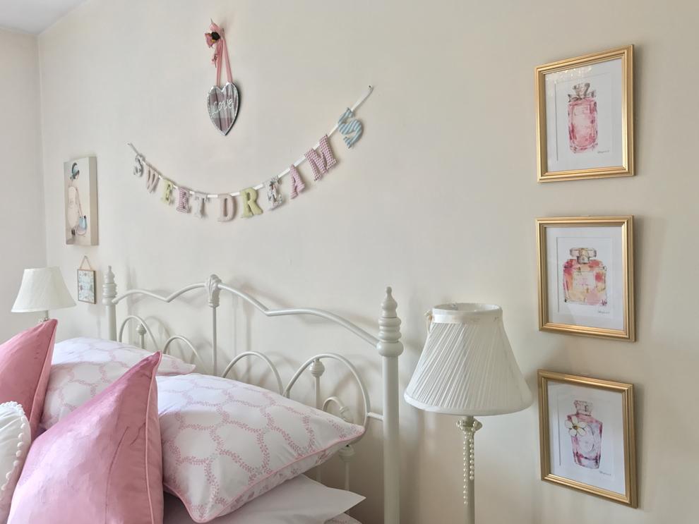 La habitación de invitados ideal, estilo Laura Ashley