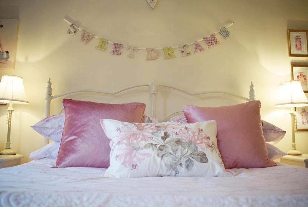 Habitación de invitados ideal, estilo Laura Ashley
