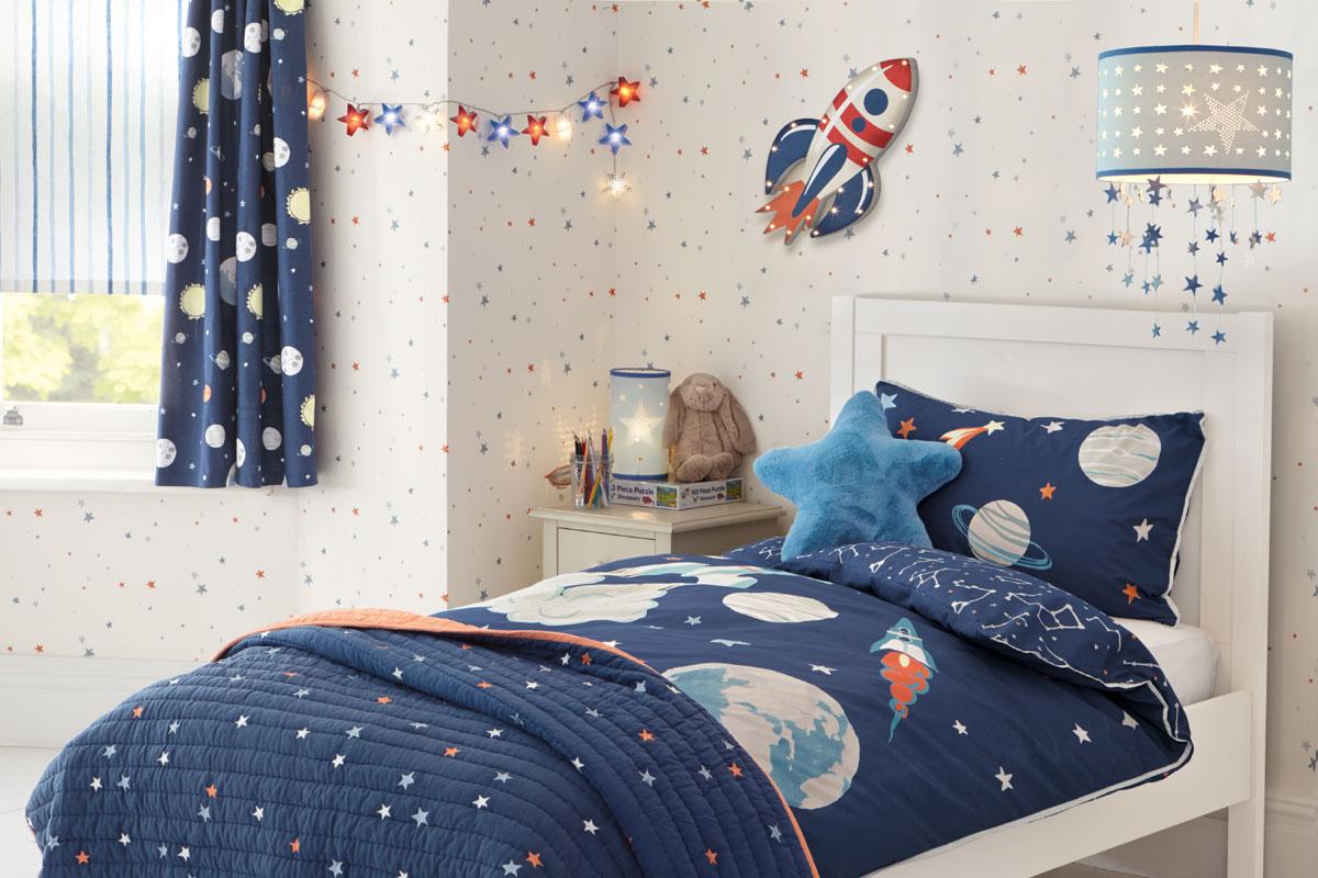 Habitación para niños espacio azul