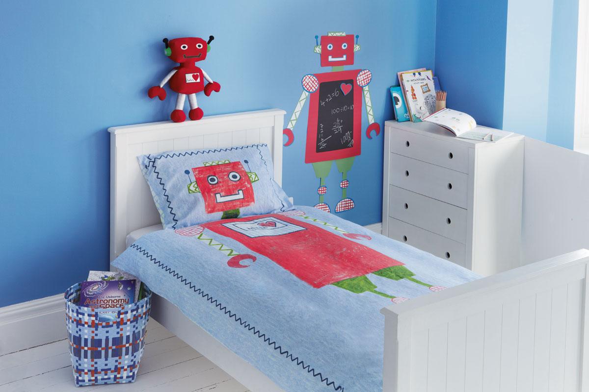 Habitación de robot para niños