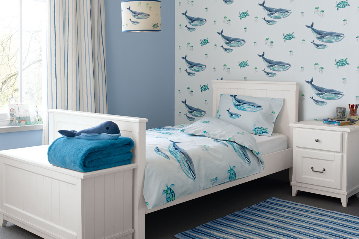 Habitación de ballenas para niños