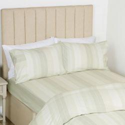 sábana bajera de rayas verdes