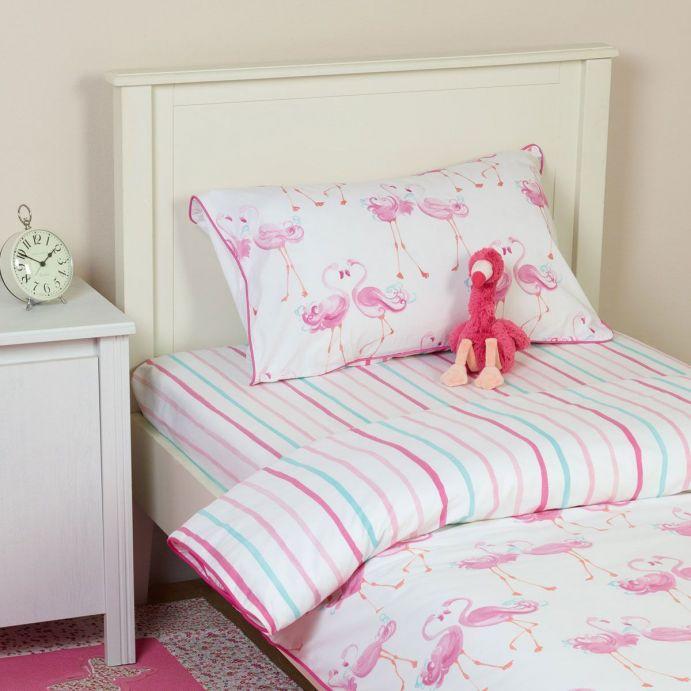 sábana bajera de rayas rosas y azules