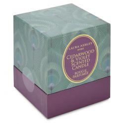 vela perfumada cedro y violeta
