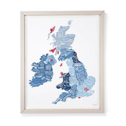 Lámina enmarcada British Food Map