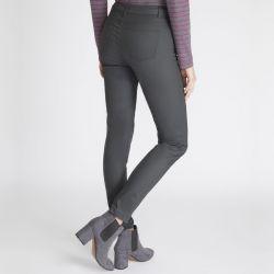 vaquero jean gris carbón encerado ajustado